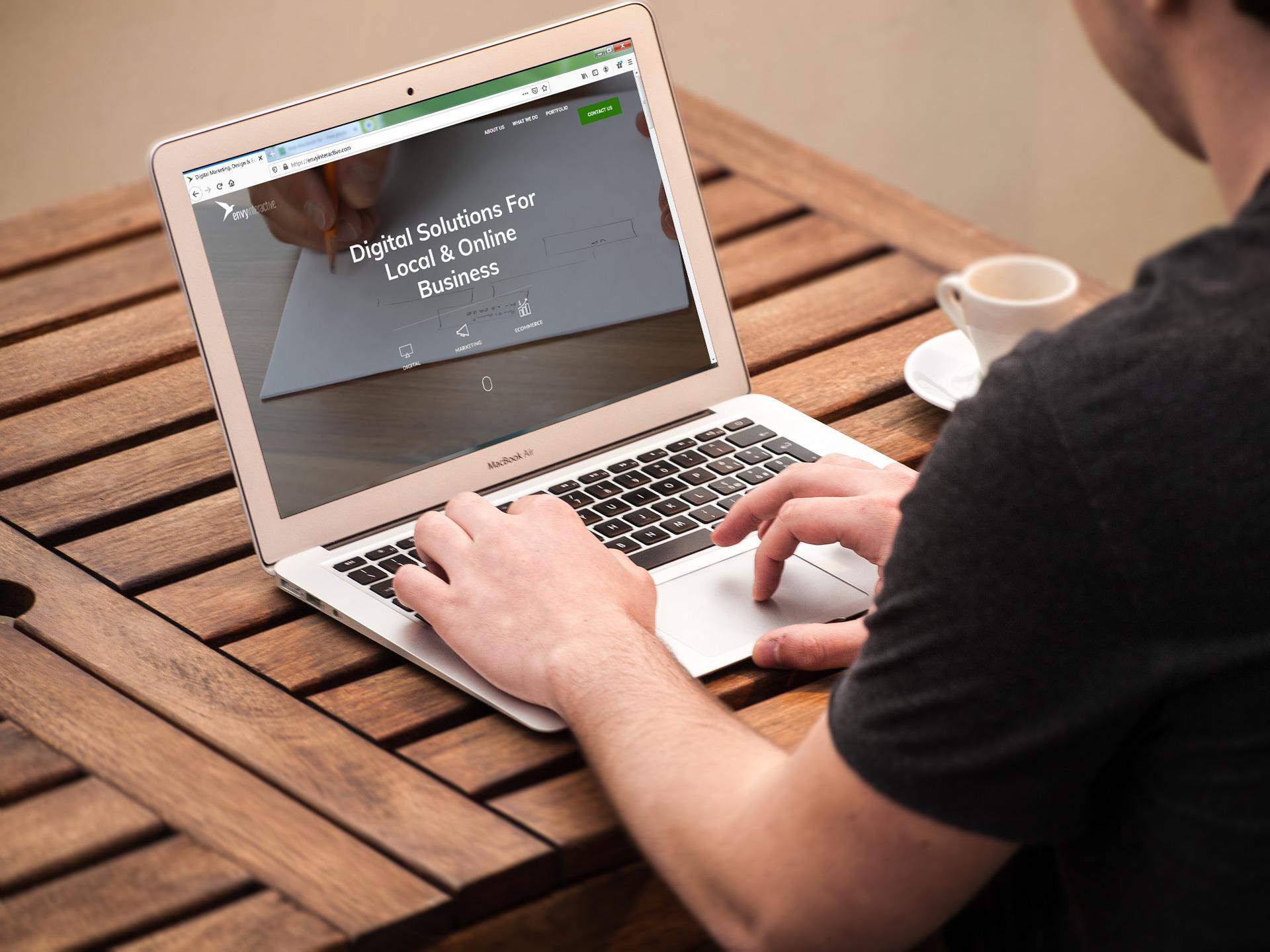 Website Design Envy example