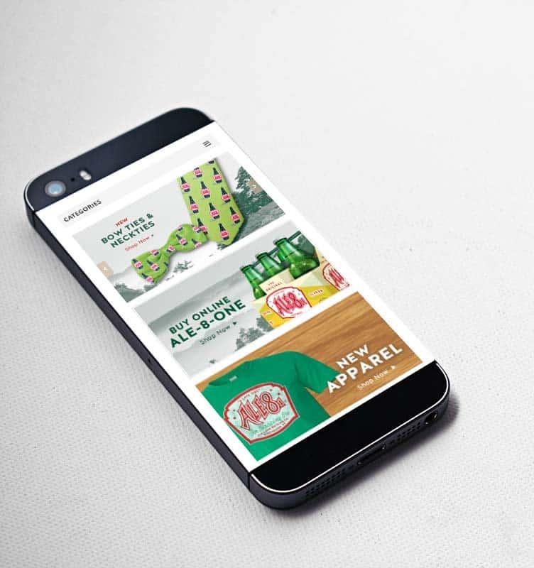 mobile website design for ale8
