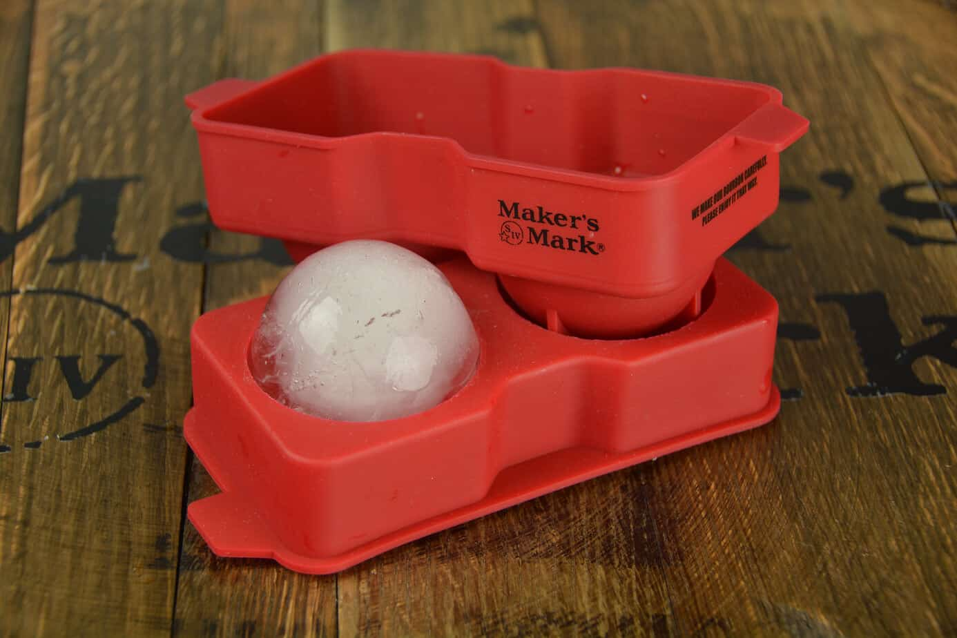 Makers Mark branded ice ball tray