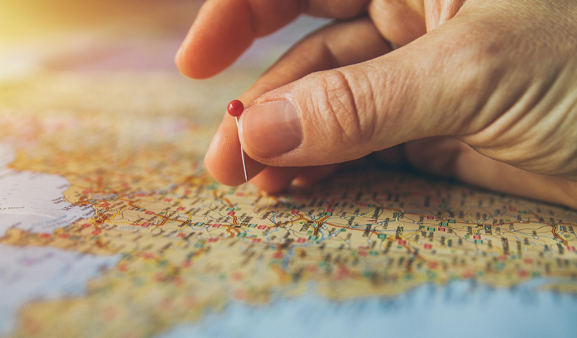 Map location pin claim