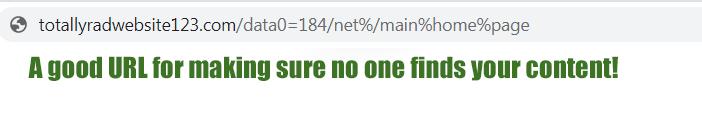 Lexington website design ugly url